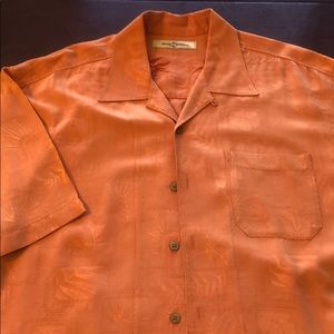 Tommy Bahama Men's Silk Wooden buttons XL